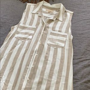 NWOT Stripe Duster Vest Dress